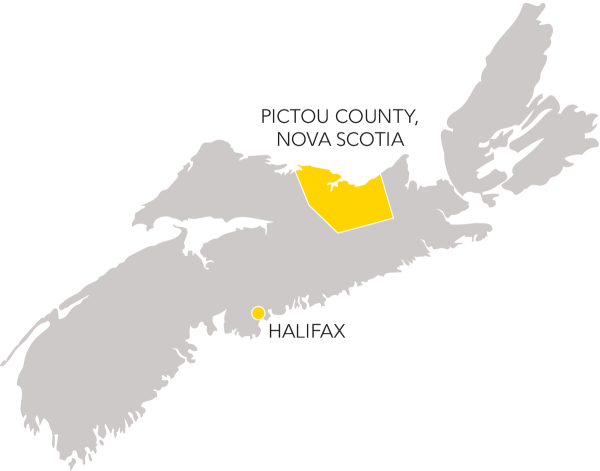 Map Pictou County